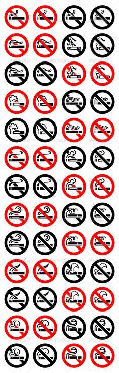 52 Round Signs 13 Cigarette Symbols