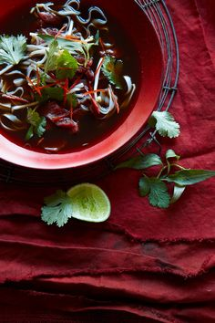 Vietnamese chilli beef and noodle soup - scroll down for recipe