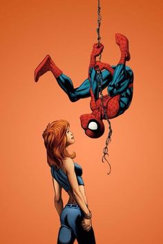 Spider-Man and Mary Jane by Mark Bagley *