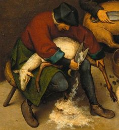 Detail from The Dutch Proverbs, Pieter Bruegel the Elder Proverb Renaissance Paintings, Renaissance Art, Large Painting, Figure Painting, Pieter Brueghel El Viejo, Pieter Bruegel The Elder, Dream Pictures, Hieronymus Bosch, Dutch Painters