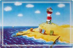 Magnetpinnwand Urlaub/Strand 60x40 cm inkl. 8 Magnete