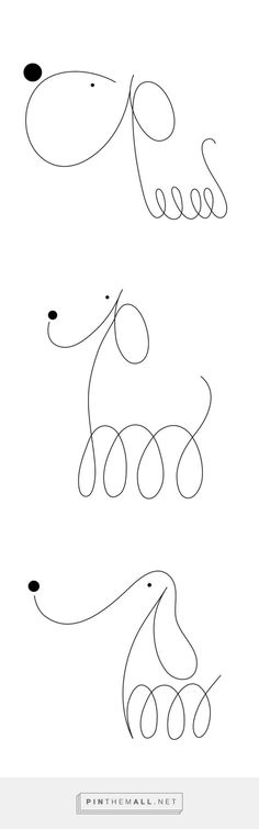 Minimalist Dogs Illustratred with Two Dots and One Line – Fubiz Media - created on 2016-12-14 14:39:30