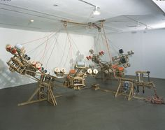Conrad Shawcross: The Nervous System (2003). A machine that weaves a rope.