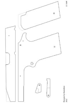 M1911 rubber band gun: