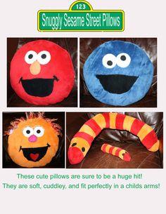 DIY crafty girl: Sesame Street Monster Pillows