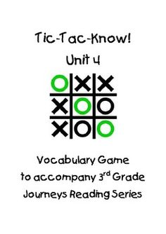 Roberto clemente pride of the pittsburgh pirates journeys 3rd journeys third grade tic tac know vocabulary unit 4 fandeluxe Image collections