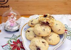 Aszalt áfonyás & fehér csokoládés cookie recept foto