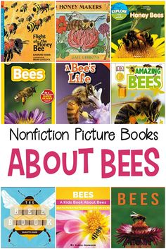 Preschoolers are sponges ready to soak up new things all the time. So, teach them about bees with these nonfiction picture books about bees. Hands On Activities, Learning Activities, Insect Activities, Spring Activities, Bees For Kids, Bee Book, Preschool Books, Kindergarten Writing, Preschool Science