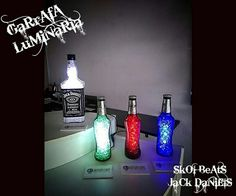 Garrafas decorativas #luminária#garrafa#abajur