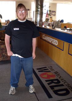 Philip Lamers, our 9,000th Facebook fan. He swung in yesterday to get his free Wenatchee World T-shirt.