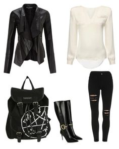 """""""gothish outfit"""" by fashionlover208 on Polyvore featuring Miss Selfridge, Gucci, women's clothing, women, female, woman, misses and juniors"""