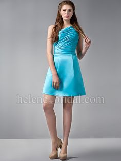 cd5c3726c5b294 Juniors light blue dresses | Light Blue High Low A-Line Satin V-Neck With  Straps Bridesmaid Dress | My sister is getting hitched! | Prom dresses,  Bridesmaid ...