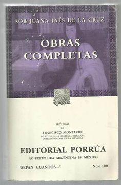 Obras Completas. Sor Juana Inés De La Cruz - $ 99.00
