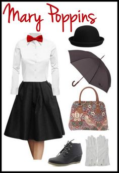Life With 4 Boys: Adult Mary Poppins #DIY Halloween Costume