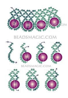 Free pattern for beaded necklace December    U need: pearl beads 8-10 mm seed beads 11/0     Click to get book about Beading