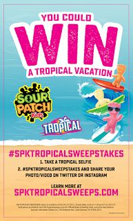 SOUR PATCH Kids Tropical Vacation Sweepstakes – Win a trip for four to Hawaii! #spktropicalsweepstakes #CollectiveBias #ad @walmart