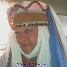Coiffe Moyen Âge, costumes créés pour le Carnaval de Crète