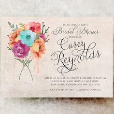Bridal Shower Invitation - Floral bridal shower, rustic bridal shower, cottage bridal shower, country bridal shower, vintage bridal shower