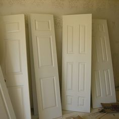 Room dividers are easy to make with doors.                                                                                                                                                     More