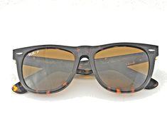 bccba16a5d9d7 Ray Ban RB2140 Original Wayfarer Classics 902 57 Tortoise Frame  Polarized  Brown  RayBan