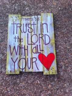 Pallet Art - Bible Verse Series. $45.00, via Etsy.