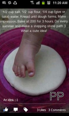 Baby Footprint Garden Stepping Stones. Makes great gifts as well as keepsakes!