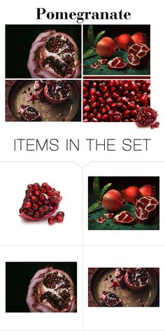 """Pomegranate"" by ohwowlovely ❤ liked on Polyvore featuring art"