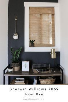 Charcoal Walls, Dark Grey Walls, Black Walls, Charcoal Gray, Green Accent Walls, Accent Wall Colors, Best Neutral Paint Colors, Neutral Wall Paint, Best Wall Colors