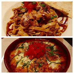 Lamb stroganoff and Veggie lasagna...