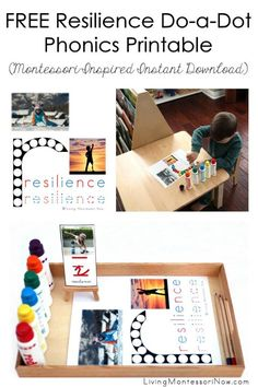"""This free resilience do-a-dot phonics printable is a Montessori-inspired printable for home or classroom. It's a versatile growth mindset themed or letter """"r"""" themed instant download - Living Montessori Now"""