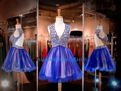 Short Red Homecoming Dress 2015 Beautiful Homecoming Dresses Real Pictures V Neck Crystals Beaded Blue Tulle Sweet 16 Dresses Backless Vestido De Festa Curto Dress From Nicedressonline, $170.9| Dhgate.Com