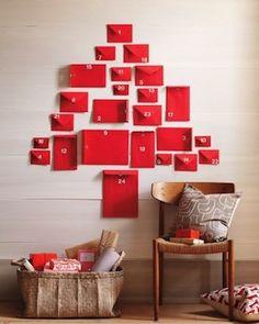 Red Envelope Advent Calendar (apparently by Martha Stewart?)