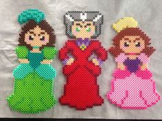 Disney Cinderella evil step sister and step mother perler bead