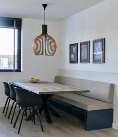 www.lifs.nl #lifs #interior #interiordesign #interieuradvies #ontwerp #maatwerk #eetkamerbank #3D Table, Furniture, New Homes, Conference Room Table, Interior Design, Home Decor, Room Decor, Dining
