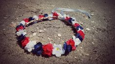 New to dieselboutique on Etsy: red white and blue flower crown headband  4th of july Festival Coachella girl bridesmaid bridal  patriotic women memorial day (19.99 USD)