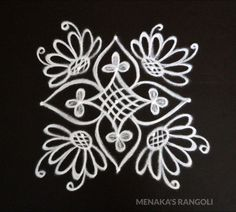 Beautiful Rangoli Design For Ugadi Indian Rangoli Designs, Simple Rangoli Designs Images, Rangoli Designs Flower, Rangoli Border Designs, Rangoli Patterns, Rangoli Ideas, Rangoli Designs With Dots, Flower Rangoli, Beautiful Rangoli Designs