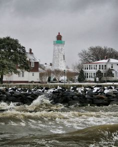 Most lighthouse pictures look serene. I like this one because it emphasizes the choppy waves and reminds us that lighthouses stand tall in shitty weather too. That's when they are most useful.