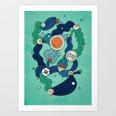 The Aquatic Environment Art Print by DuckyB (Brandi)