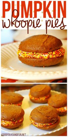 These Pumpkin Whoopie Pies with Maple Cream Cheese Filling are the perfect fall dessert!