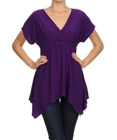 This Purple Surplice Sidetail Top is perfect! #zulilyfinds