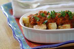 Patatas Bravas (Crisp Spanish Potatoes with Spicy Tomato Sauce)