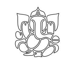 Ganpati Drawing, Ganesha Drawing, Lord Ganesha Paintings, Ganesha Art, Cool Art Drawings, Easy Drawings, Mandala Design, Mandala Art, Bee Coloring Pages