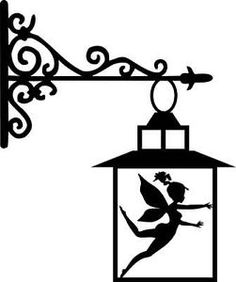 Die Cut Silhouette FAIRY IN LANTERN topper x 6 cardmaking ...
