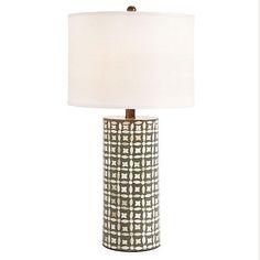 Real Simple Living Room featuring our Harper Bone Table Lamp  I  ballarddesigns.com