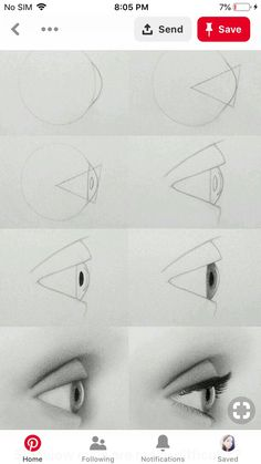 40 Drawing Tutorial for Occasional Artists 3d Art Drawing, Cool Art Drawings, Pencil Art Drawings, Art Drawings Sketches, Realistic Drawings, Doodle Drawings, Drawing Tips, Easy Drawings, Eye Drawing Tutorials