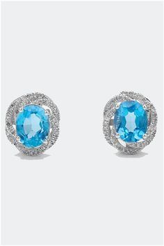 6.80 CTW Topaz 14K Gold Cocktail Earrings - Enviius