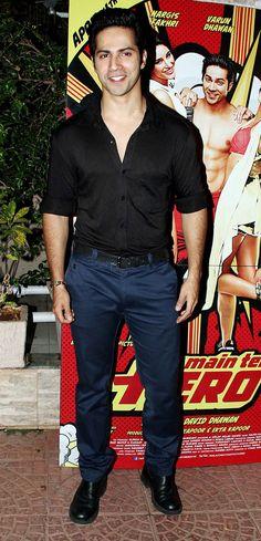 Varun Dhawan at the 'Main Tera Hero' success bash. #Style #Bollywood #Fashion #Handsome