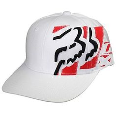 Fox Racing Its There Flexfit Hat White Cap Brand New In Stock 02236 Roupas  Fox Racing 6a99dafaa00