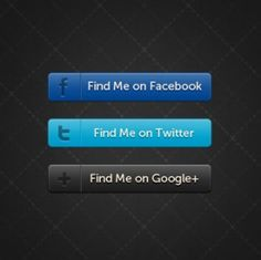 Horizontal Social Buttons - free