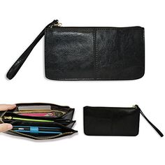 Smartphone zipper wallet, Belfen® [Handmade genuine leather] [Black]Zipper Wallet Case with Credit Card Holder/Cash pocket/Wristlet-Soft Genuine Leather wallet case for Apple iPhone 6 5S 5C 5 4S 4, Samsung Galaxy S5 S4 S3,Note 4,Note 3, Google Nexus 5, LG G2, HTC One M7, Sony Xperia Z E3 Z3 Compact, Moto X, Moto G, Droid Razr [Up to 6 x 3.1*0.4 Inch Cellphone]-Black Belfen http://www.amazon.com/dp/B00U5QLBL6/ref=cm_sw_r_pi_dp_8rl1vb01BJK2C